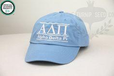Alpha Delta Pi Sorority Line Design Baseball Cap by TheTurnipSeed