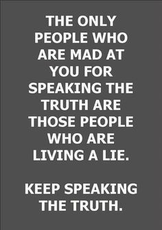I WON'T BE SILENCED... FOR SPEAKING THE TRUTH!!!!!