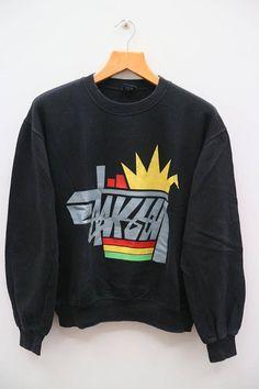 Hoodies & Sweatshirts Stussy Zip Up Hoodie Size M Speech Bubble Pattern Men's Clothing