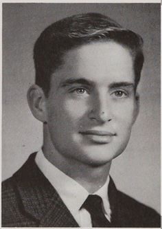 High School yearbook photo of actor Michael Douglas - 1963 Choate Rosemary Hall High School, Wallingford, Connecticut. The year that this was taken, another Choate graduate -- John F. Kennedy -- was President of the U.S. #MichaelDouglas #CelebrityYearbookPhotos #yearbook #1963 #1960s #ChoateRosemaryHallHighSchool #Wallingford