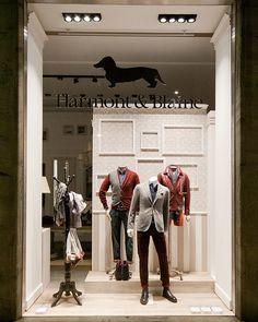 (A través de CASA REINAL) >>>>  Harmont Blaine windows 2014 Fall, Milan – Italy window display