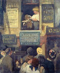 John Sloan - Hairdresser's Window