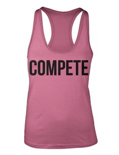 Women's Competitor pink burnout racerback tanktop! #fitness #crossfit #motivate