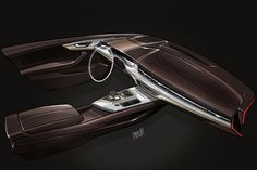 Audi Q7 interior rendering by Immo Redeker