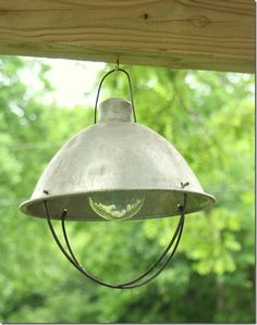 create a 'solar' light... very cool idea that's possible with most anything - by Shabby Creek Cottage