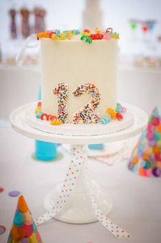 A darling confetti cake.