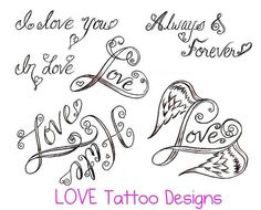 30 Best Simple Love Tattoo Drawings Images Female Tattoos Nice