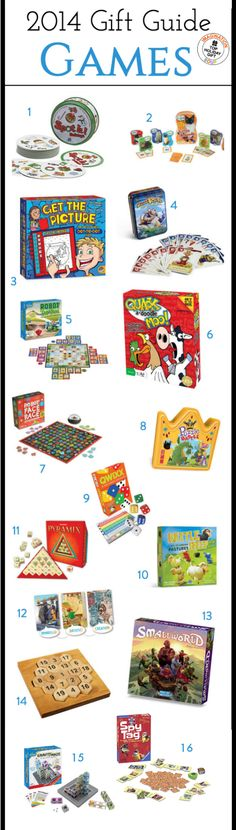 From card games to board games and dice games, here are the best learning games for kids' gifts for 2014.