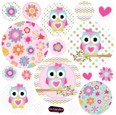 Kit De Vinilo Autoadhesivo Lechuzas Rosa Confite Diy And Crafts, Paper Crafts, Bird Party, Beautiful Owl, Bottle Cap Images, Owl Art, Cute Owl, Happy Planner, Planner Stickers