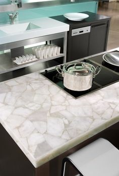 Concetto Kitchen Benchtop 8141 White Quartz