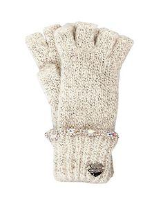 7ab1802b329d33 ON THE ROCKS HALF FINGER GLOVE Glove, Betsey Johnson, Finger, Winter Hats,