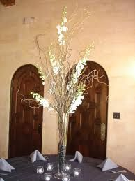 curly willow and orchid centerpieces - Google Search