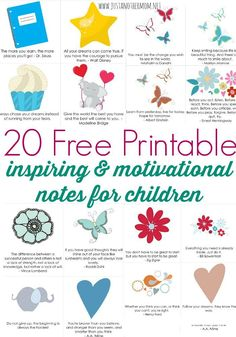 For this week's Freebie Friday at Just Another Mom, I'm sharing a part of my free printable lunch notes for kids pack. Download 20 or opt for the full 180!
