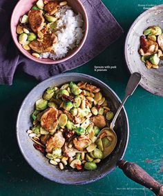 Spicy sichuan style prawns and cashew chicken food recipes bbc sprouts with pork and peanuts recipe forumfinder Choice Image