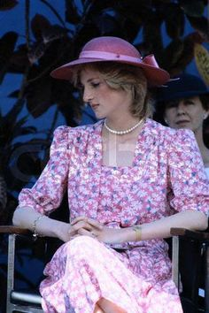 Princess Diana in Flowered Dress March 1983 Australia