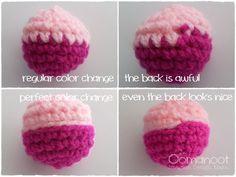 The Perfect Crochet Color Change - Tutorial step by step ✿Teresa Restegui http://www.pinterest.com/teretegui/✿