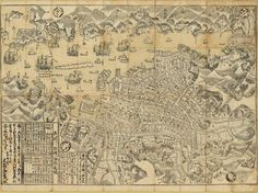 Plan of Nagasaki, Hizen province, by Ōhata, Bunjiemon. 1778. University of British Columbia Library, Rare Books and Special Collections.