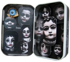 Little Shrine Of Horrors - Altoid Tin Shrine for Ten Two Studios by Carolyn Brady (vintagepix)