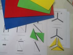 DIY Constructive Triangles (Photo from Teacher Weena)