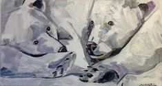 Lombok #MartaMilossis Lombok, Les Oeuvres, Painting, Bears, Paintings, Draw, Drawings