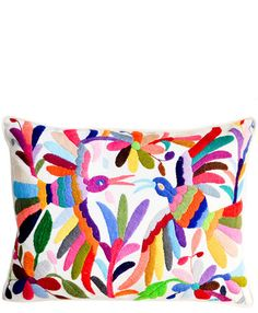 Otomi Embroidered Pillow