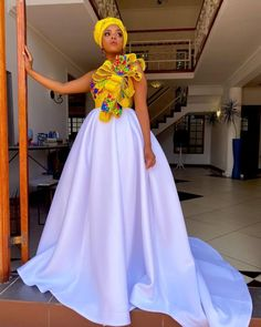 South African Dresses, Wedding Dresses South Africa, African Print Wedding Dress, African Wedding Attire, African Fashion Skirts, African Maxi Dresses, African Dresses For Women, African Attire, South African Fashion