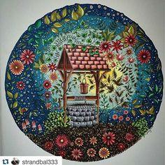 Que maravilhoso! By  @strandbal333  #jardimsecreto #coloringforadults #coloringbook #desenhoscolorir #kleurenvoorvolwassenen #kleuren  #secretgarden  #johannabasford
