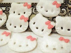 Hello Kitty Felt Applique Ready to Sew or Glue On by sweetiefluhr, $3.99