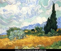 Wheatfield with Cypress I - Vincent Van Gogh - www.vincent-van-gogh-gallery.org