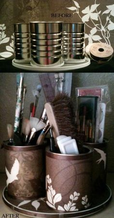Great Idea for Make up and brushes