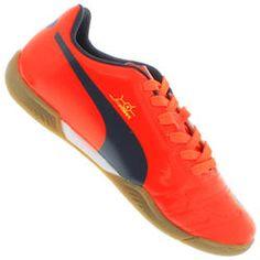 low priced 6b6ed 8e258 Chuteira de Futsal Puma Evopower 4 IT - LARANJA ESCURO Desconto Centauro  para Chuteira de Futsal