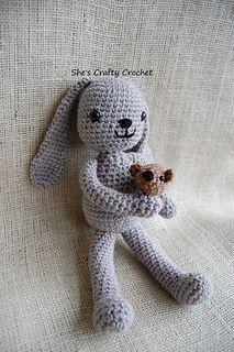 Little Bunny Foo Foo - free crochet pattern by She's Crafty Crochet.