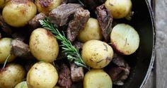 τηγανιά με χοιρινό - η συνταγή του ένδοξου μεζέ - Pandespani.com Pork, Food And Drink, Potatoes, Vegetables, Recipes, Pork Roulade, Pigs, Potato, Veggies