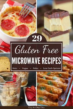 29 Gluten Free Microwave Recipes for Easy Dorm Room Cooking Healthy Microwave Meals, Microwave Fudge, Easy Microwave Recipes, Eating Healthy, Easy Recipes, Clean Eating, Gluten Free Mug Cake, Gluten Free Desserts, Gluten Free Recipes