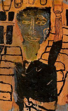 """self-portrait-on-the-'L' - 30"" x 48  2013"