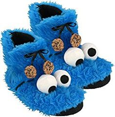 Inspiration, all accessories and make-up instructions so you can make your Cookie Monster Cos Monster Slippers, Pastel Punk, Baby Kostüm, Up Costumes, Trunk Or Treat, Christmas And New Year, Holiday Fun, Plush, Booty