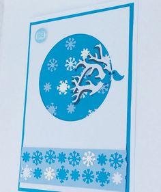 Handmade Christmas Tree Card, Snowflake Christmas Card, Blank Card, Blue Card    eBay Luxury Christmas Cards, Handmade Christmas Tree, Christmas Tree Cards, Blank Cards, Snowflakes, Stationery, Diy, Blue, Stationeries