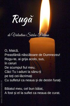 Rugaciune pentru fiul care a murit, durere de mama, rugaciune in poezii, poezii de Valentina Sarbu-Pelivan Convenience Store, Candles, Convinience Store, Candy, Candle Sticks, Candle