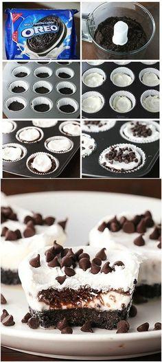 Chocolate Lasagna Cupcakes - ummm yummm!