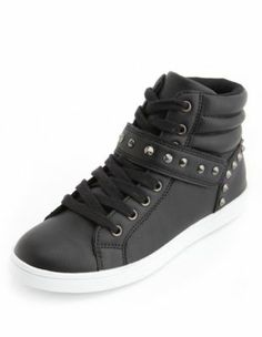 studded hi-top lace-up sneaker 38.50