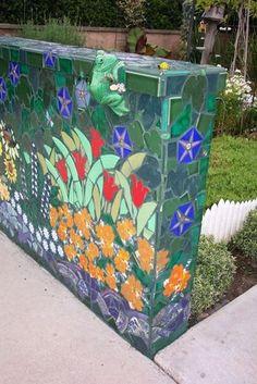 CAmpana navideña Image Results Mosaic Flower Pots, Mosaic Pots, Pebble Mosaic, Mosaic Wall Art, Mosaic Garden, Stone Mosaic, Mosaic Glass, Mosaic Tiles, Mosaic Mirrors