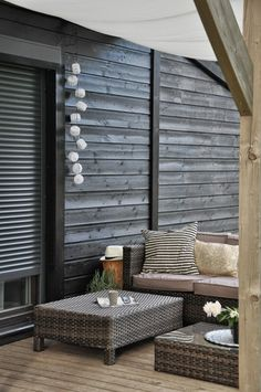 A quiet patio corner for lounging or reading. Delicious.