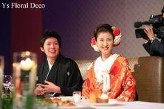 和装のヘッドドレス 赤いお着物にの画像:Ys Floral Deco Blog