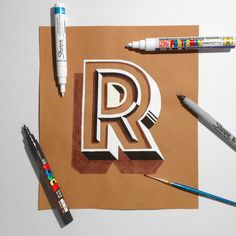 hand lettering on kraft paper 2 on Behance                                                                                                                                                                                 More