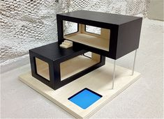 Modern Dollhouse 2 from Furniture Building A Container Home, Container House Plans, Tiny House Design, Home Design, Interior Design, Architecture Model Making, Interior Architecture, Maquette Architecture, Container Architecture