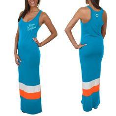 '47 Brand Miami Dolphins Ladies Maxi Dress - Aqua