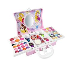 Disney Princess Makeup Kit Girls Makeup kit – Water Soluble Cosmetic Case, Only Need Clean Water to Clean, Safety and Non-Toxic, Child Gift Suit, Makeup for Little Girls - Makeup Products Fenty Princess Make Up, Disney Princess Makeup, Princess Toys, Princess Style, Make Up Kits, Makeup Kit For Kids, Kids Makeup, Teenage Makeup, Makeup Brands