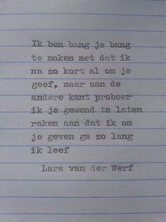 Lief gedichtje van Lars van der Werf http://versjesvanlars.tumblr.com