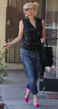 Gwen Stefani wears DWP Coated Vest