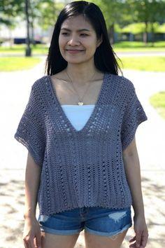 Débardeurs Au Crochet, Mode Crochet, Crochet Cardigan, Easy Crochet, Crochet Summer Tops, Summer Knitting, Crochet Tops, Crochet Designs, Crochet Patterns